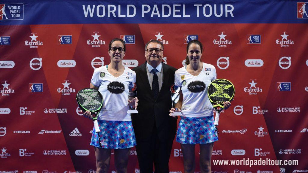 Campeonas Lucía Sainz - Gemma Triay . Finales Estrella Damm Catalunya Master 2018