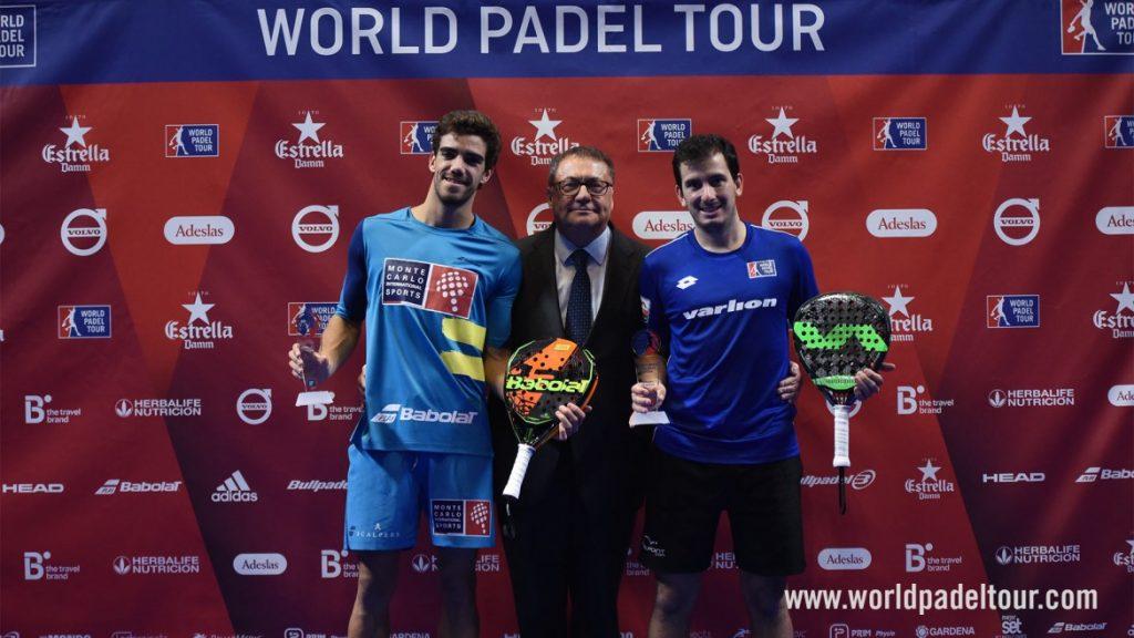 Finalistas Juan Lebrón - Juan Cruz Belluati - Finales Estrella Damm Catalunya Master 2018