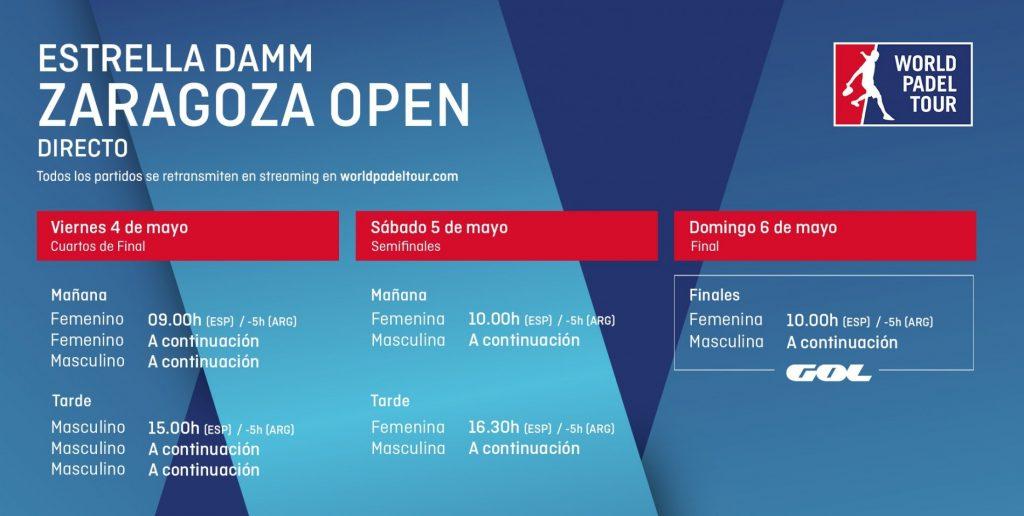 Horarios WPT Estrella Damm Zaragoza Open 2018