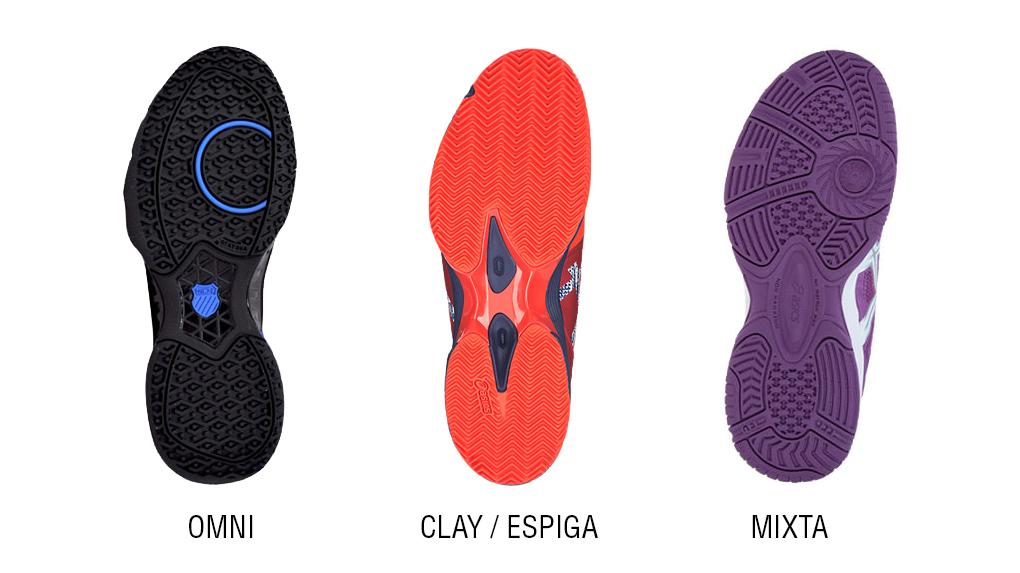Suela zapatillas de Pádel