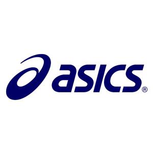 Logo marca de pádel Asics